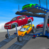 Elevated Car Transporter Game: Cargo truck Driver